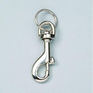 Billigtpyssel.se | Karbinhake 65 mm - förnicklad 2 st. med nyckelring