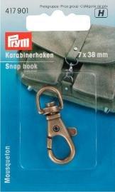 Billigtpyssel.se | Karbinhake 7/38mm antik mässing 1 st
