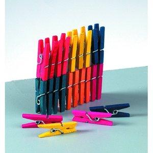 Billigtpyssel.se | Klädnypor i trä 25 mm - flera färger