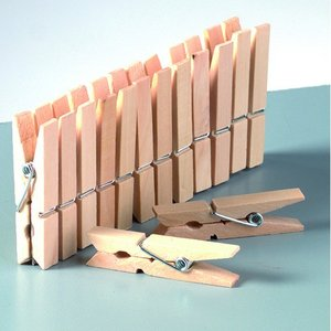 Billigtpyssel.se | Klädnypor i trä - obehandlade