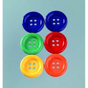 Billigtpyssel.se | Knapp 34 x 34 mm - flera färger 6 st. Primärvalen