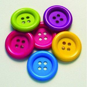 Billigtpyssel.se | Knapp 35 mm - flera färger 6 st. Jättekul
