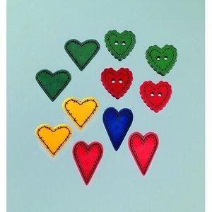 Billigtpyssel.se | Knapp - flera färger 11 st. Landskapskärlek