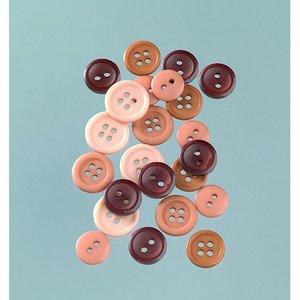 Billigtpyssel.se | Knappar 10 - 15 mm - beige / brun 40 g naturlig