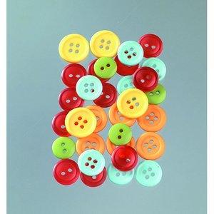 Billigtpyssel.se | Knappar 10 - 15 mm - flera färger lätt 40 g citrus