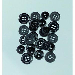 Billigtpyssel.se | Knappar 10 - 15 mm - svart 40 g svart