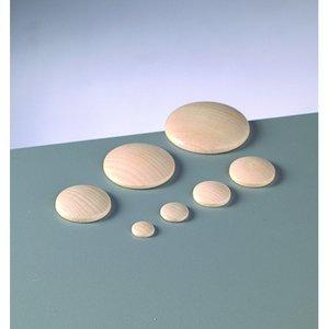 Billigtpyssel.se | Knappform i trä 12 mm - 50-pack - blekt runda