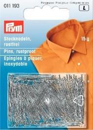 Billigtpyssel.se | Knappnålar av mässing silverfärg