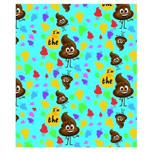 Billigtpyssel.se   Kollegieblock A5 Linjerat - Poop-emoji