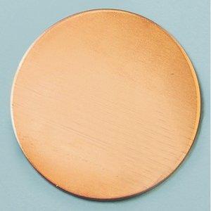 Billigtpyssel.se | Kopparplatta blank ø 28 mm - runda