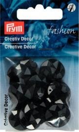 Billigtpyssel.se | Kreativ Dekor fastsys 18 mm svart 14 st