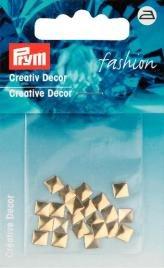 Billigtpyssel.se | Kreativ Dekor fyrkantig påstrykes 5mm guldfärg 26 st