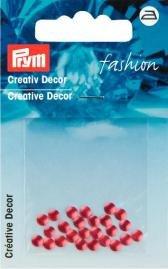 Billigtpyssel.se | Kreativ Dekor rund påstrykes 4mm röd 28 st