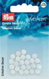 Billigtpyssel.se | Kreativ Dekor rund påstrykes 6mm vit 24 st