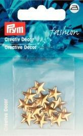 Billigtpyssel.se | Kreativ Dekor stjärnor påstrykes 10mm guldfärg 18 st