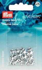 Billigtpyssel.se | Kreativ Dekor stjärnor påstrykes 7mm silverfärg 22 st