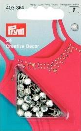 Billigtpyssel.se | Kreativ Dekor strass påstrykes 5mm silverfärg 24 st