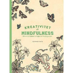 Billigtpyssel.se | Kreativitet och mindfulness - 100 bilder på växter och djur att färglägga själv