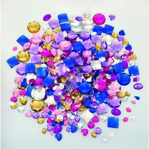 Billigtpyssel.se | Kristallstenar för ringar och berlocker blandade - 1000 st