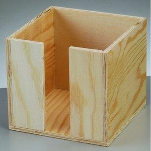 Billigtpyssel.se | Låda för memolappar 11 x 11 x 10 cm - natur