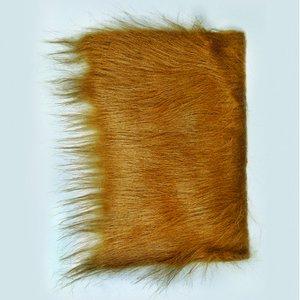Billigtpyssel.se | Långt hår plysch 20 x 35 cm - brun