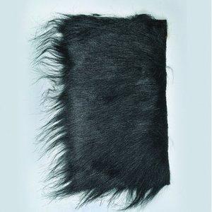 Billigtpyssel.se | Långt hår plysch 20 x 35 cm - svart