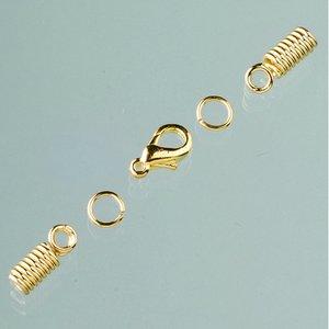 Billigtpyssel.se | Låsanordningar för läderband ø 2 mm - guldpläterade (fjäderfäste)
