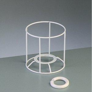 Billigtpyssel.se   Lampstomme ram 10 cm / ø 10 cm - vit rund