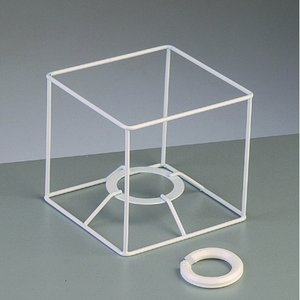 Billigtpyssel.se | Lampstomme ram 10 cm / 10x10 cm - vit kvadrat