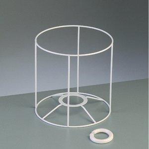Billigtpyssel.se   Lampstomme ram 15 cm / ø 15 cm - vit rund