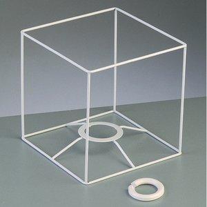 Billigtpyssel.se | Lampstomme ram 15 cm / 15x15 cm - vit kvadrat