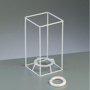 Billigtpyssel.se   Lampstomme ram 15 cm / 8x8 cm - vit kvadrat
