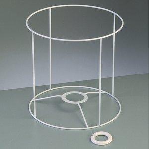 Billigtpyssel.se | Lampstomme ram 20 cm / ø 20 cm - vit rund