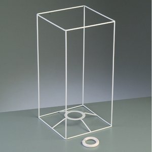 Billigtpyssel.se | Lampstomme ram 30 cm / 15x15 cm - vit kvadrat