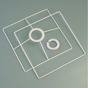 Billigtpyssel.se | Lampstomme ring set 10x10 cm - vit 2 delar kvadratisk
