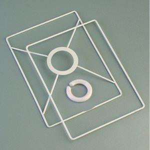 Billigtpyssel.se | Lampstomme ring set 10x15 cm - vit 2 delar rektangulär