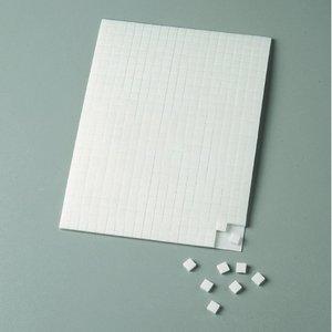 Billigtpyssel.se | Limkudde 5 x 5 x 1 mm / 10 x 14 cm - vit 560 st. dubbelsidig