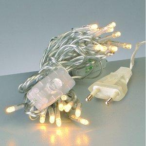 Billigtpyssel.se | Ljusslinga LED + knapp linjär 220 V - transparent 20 lampor transp.