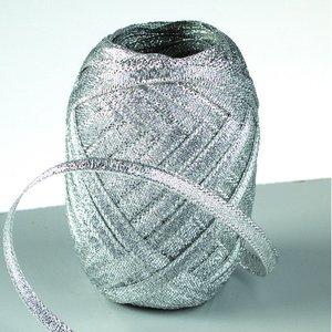 Billigtpyssel.se | Lurex rosettband 5 mm - 25-pack - silver 10 m nystan