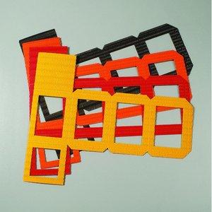 Billigtpyssel.se   Lykta cutout 140 x 140 x 180 mm - 20-pack - blandade färger