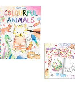 Billigtpyssel.se | Målarbok - Create your Colourful Animals