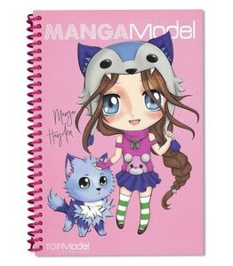 Billigtpyssel.se   Målarbok MANGAModel - Manga Candy