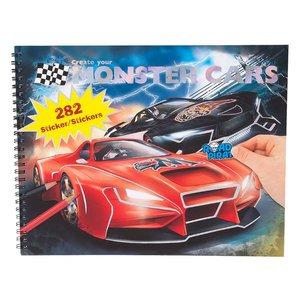 Billigtpyssel.se | Målarbok med stickers - Monster Cars