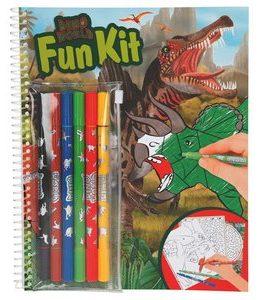 Billigtpyssel.se   Målarbok med tuschpennor - Dino World
