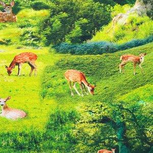 Billigtpyssel.se   Mönstrad Trikå 150 cm - Bambi