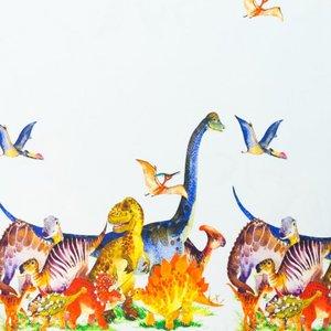 Billigtpyssel.se | Mönstrad Trikå 150 cm - Dinosaurier