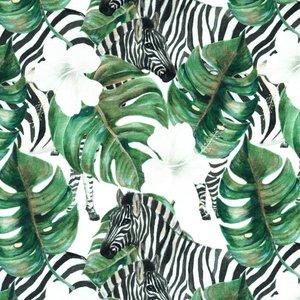 Billigtpyssel.se | Mönstrad Trikå 150 cm - Djungel Zebra