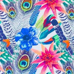 Billigtpyssel.se | Mönstrad Trikå 150 cm - Fjädrar
