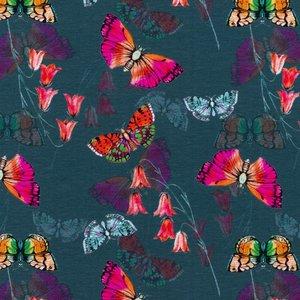 Billigtpyssel.se   Mönstrad Trikå 150 cm - Fjäril