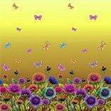 Billigtpyssel.se | Mönstrad Trikå 150 cm - Fjärilar Gul